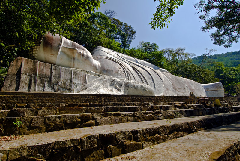 Lying Big Buddha royalty free stock photos