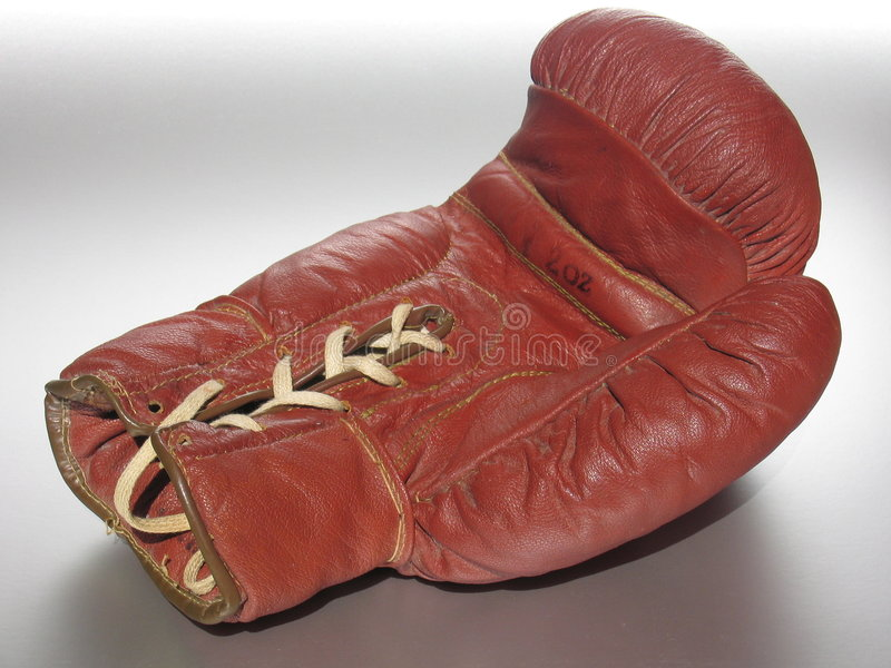 Lying Boxing Glove royalty free stock photos