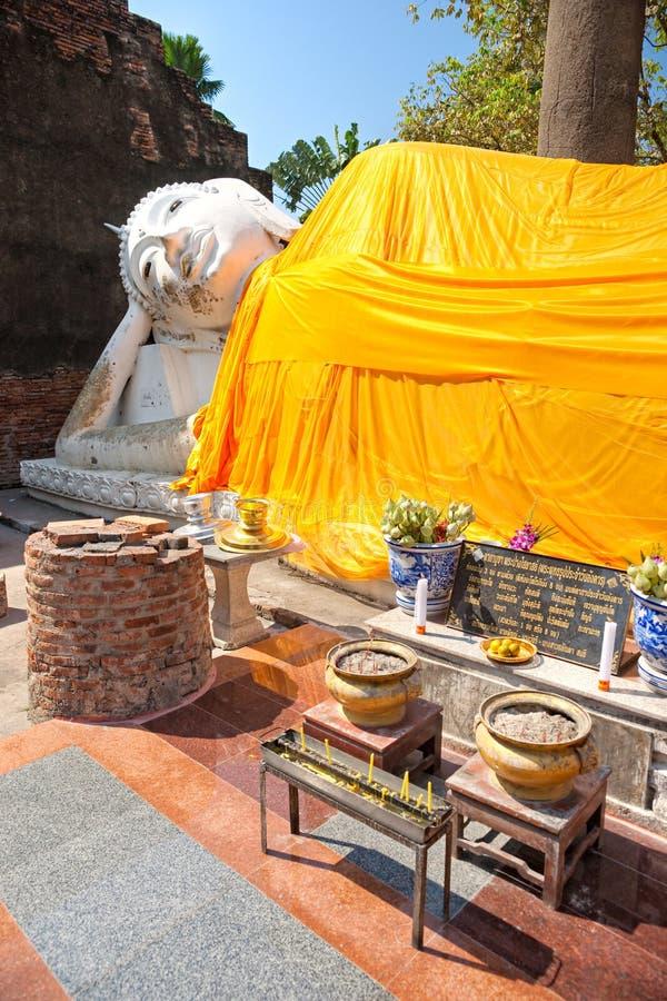 Lying Buddha In Ayuthaya, Thailand, Royalty Free Stock Images
