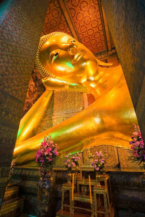 Free Lying Buddha Inside Wat Po Temple, Bangkok Royalty Free Stock Image - 9905356