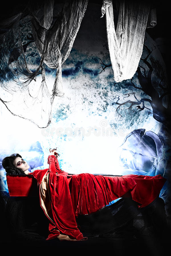 Download Lying in coffin stock photo. Image of dark, devil, gloomy - 27290380