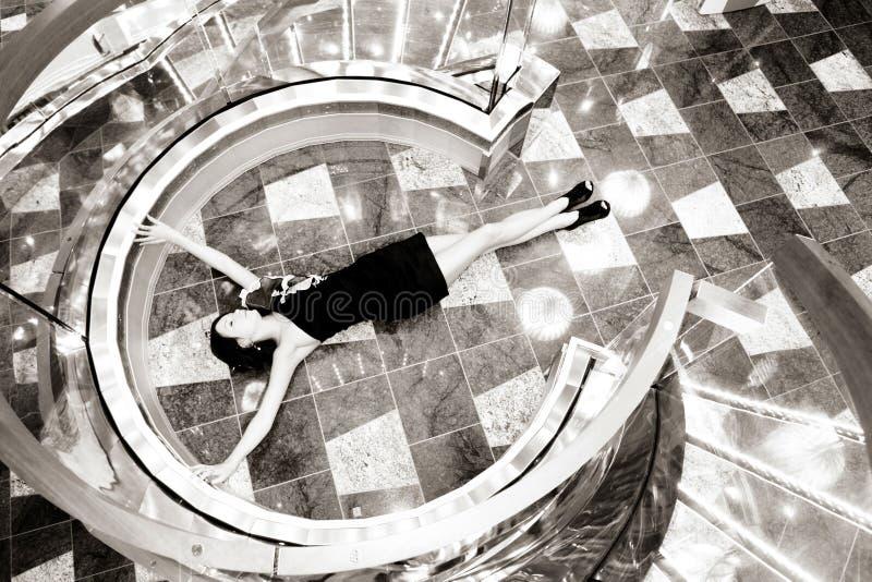 Download Lying girl stock photo. Image of glass, body, floor, classic - 24523180