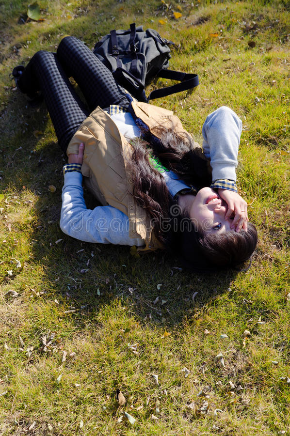 Download Lying On The Grass Stock Image - Image: 17149591