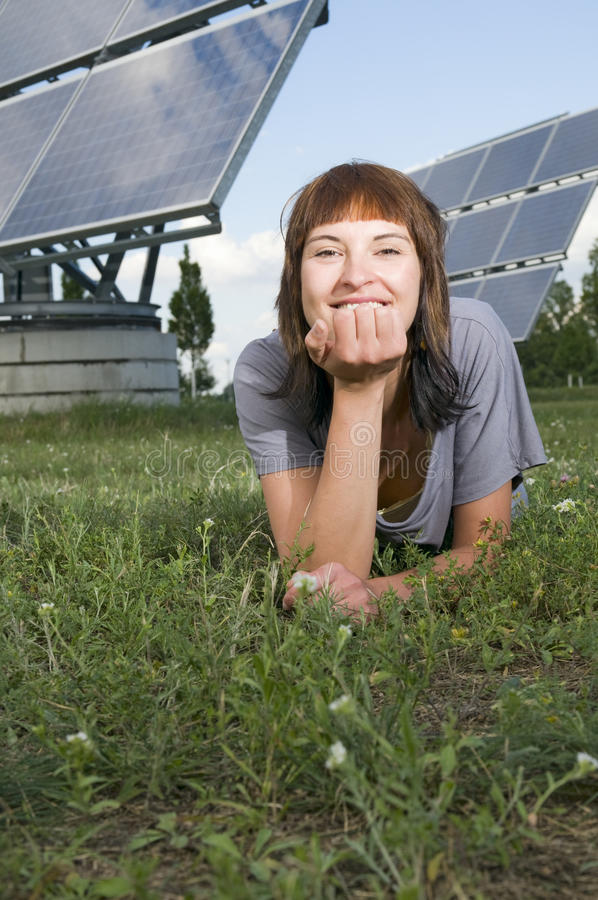 Download Lying by the photovoltaics stock image. Image of country - 21275719