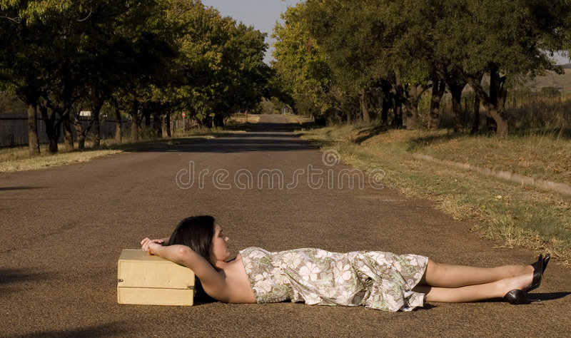 Download Lying in the road stock photo. Image of hitch, fashion - 2418640