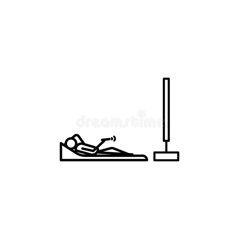 Lying watching tv outline icon. Element of lazy person icon for mobile concept and web apps. Thin line icon lying watching tv can. Be used for web and mobile on royalty free illustration