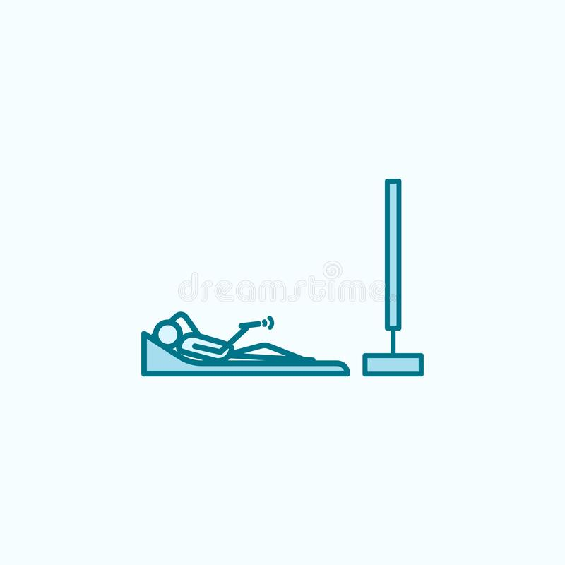 lying watching tv outline icon royalty free illustration