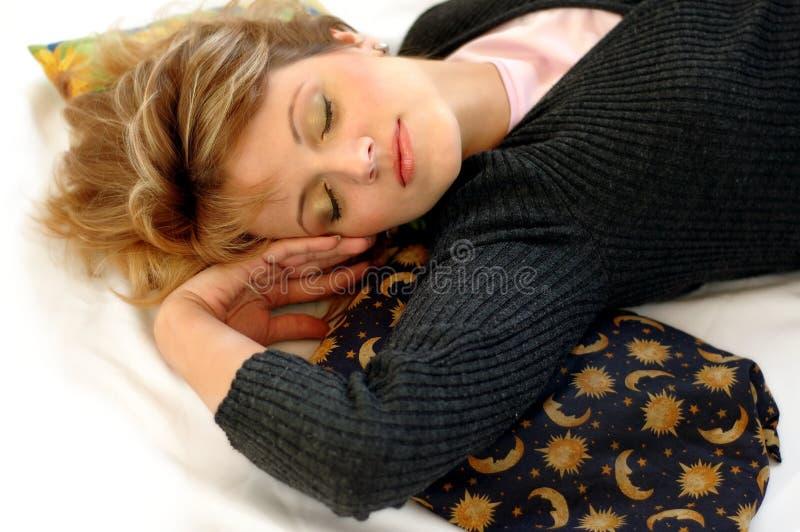 Download Lying woman stock image. Image of sleep, cushion, lying - 1047259