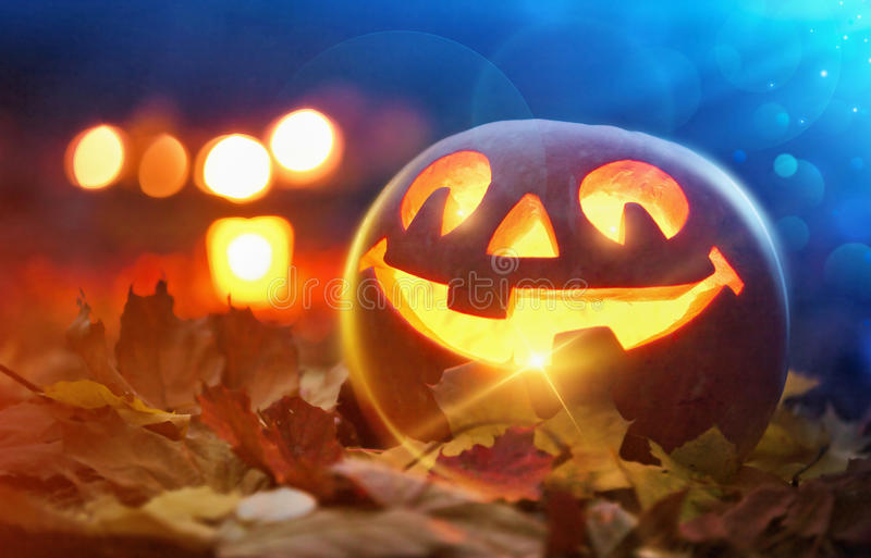 Lykta för Halloween stålarnolla arkivfoto