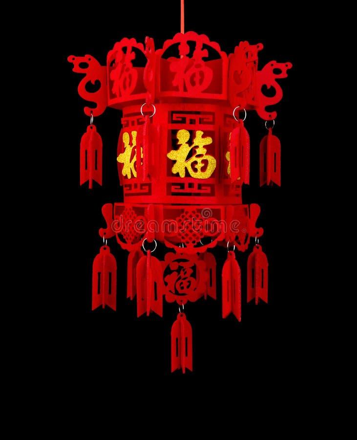 Lykta för traditionell stil för kinesiskt nytt år på svart royaltyfria foton