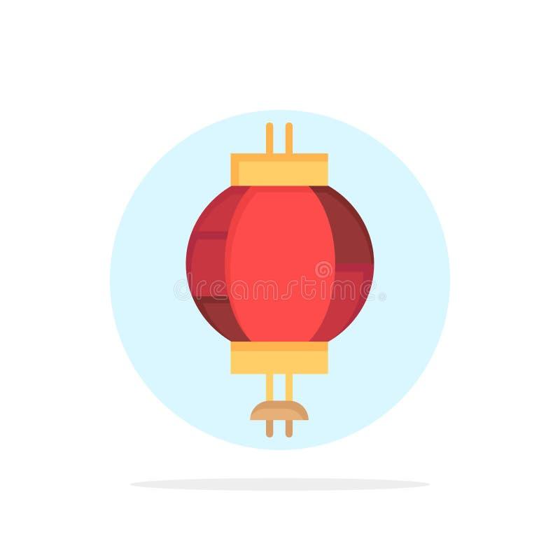 Lykta Kina som är kinesisk, för abstrakt symbol för färg cirkelbakgrund för garnering plan vektor illustrationer