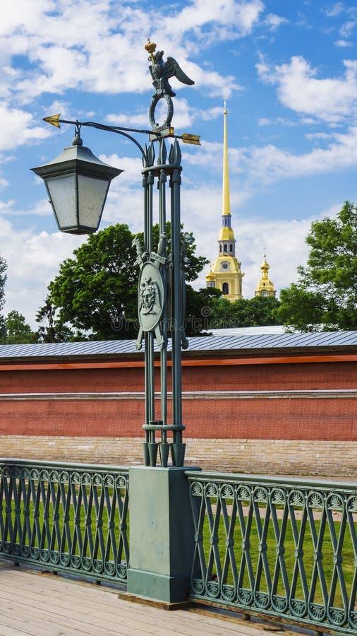 Lykta på hareön petersburg russia st arkivfoton
