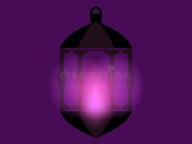 Lykta ramadan kareem Arabisk lykta Ramadan Lanterns vektor royaltyfri illustrationer