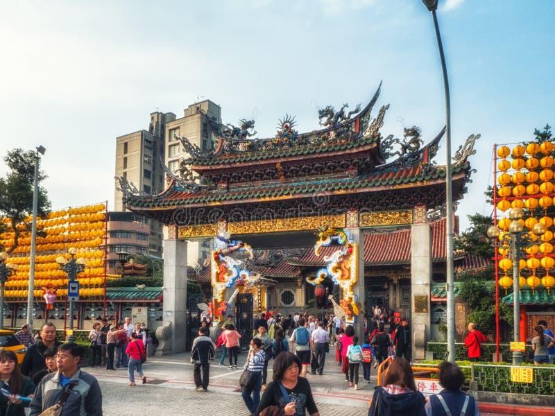 Lyktafestival, Taipei, Taiwan fotografering för bildbyråer