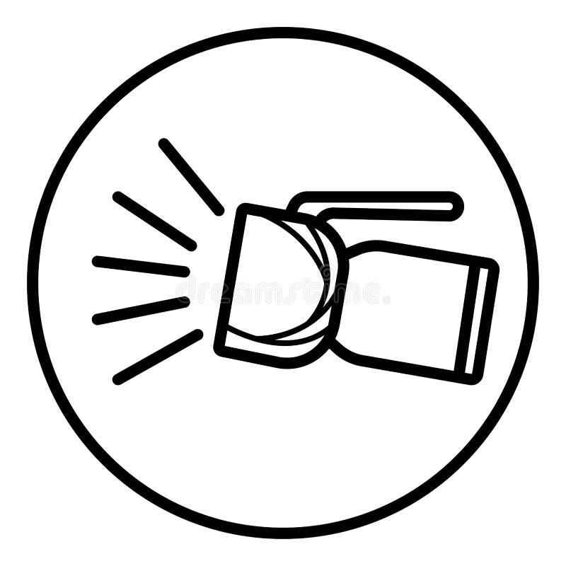 Lyktasymbolsvektor vektor illustrationer