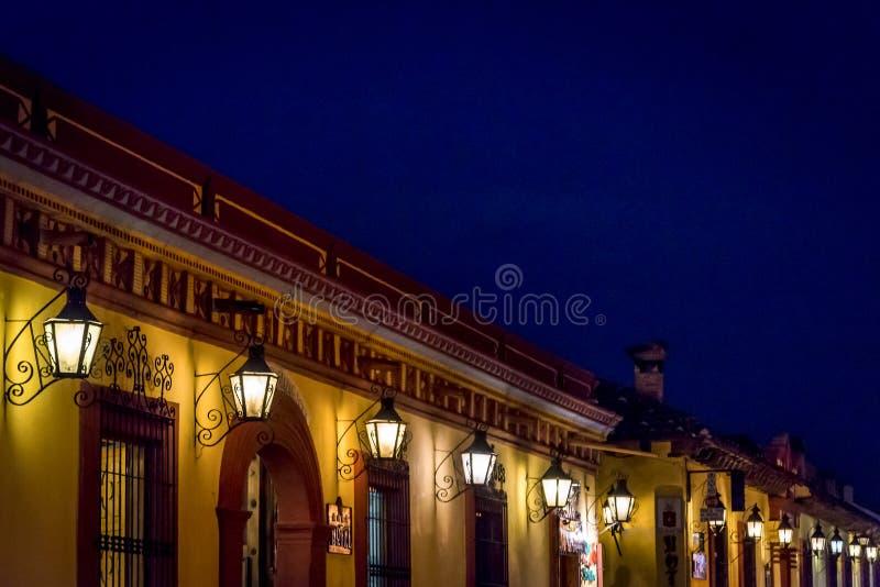 Lyktor San Cristobal de Las Casas, Chiapas, Mexico royaltyfri foto