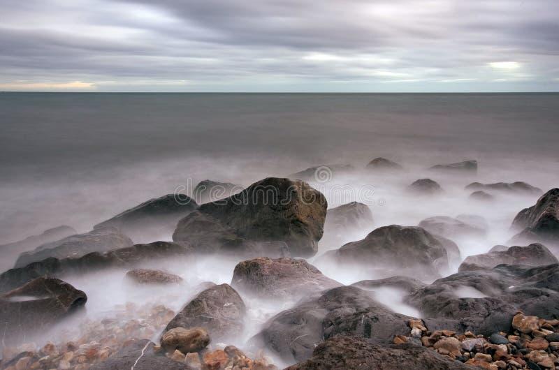 Lyme Bucht stockfotografie