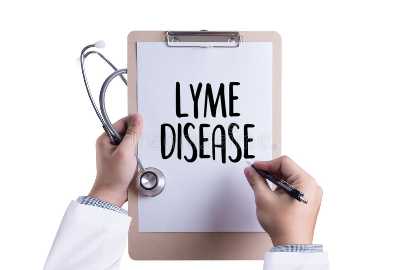 LYME DISEASE Lyme disease or Lyme borreliosis , Lyme Disease, Me stock illustration