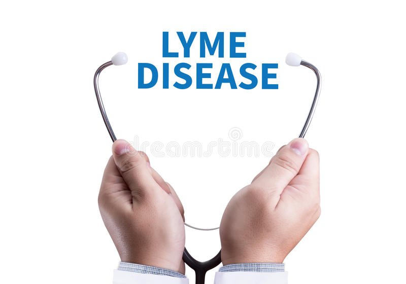Lyme för LYME-SJUKDOM sjukdom eller Lyme borreliosis, Lyme sjukdom, mig royaltyfri foto