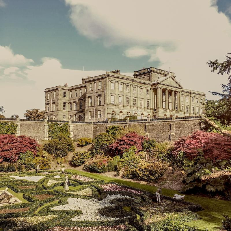 Lyme Park country house royalty free stock photography