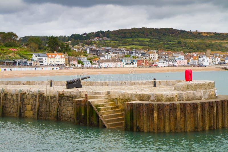 Lyme Regis英国 库存照片