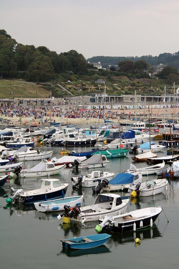 Lyme Regis łodzie zdjęcie stock