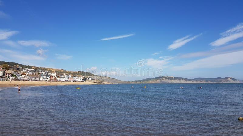 Lyme Regis Bay Jurassic kust av Dorset UK arkivfoton