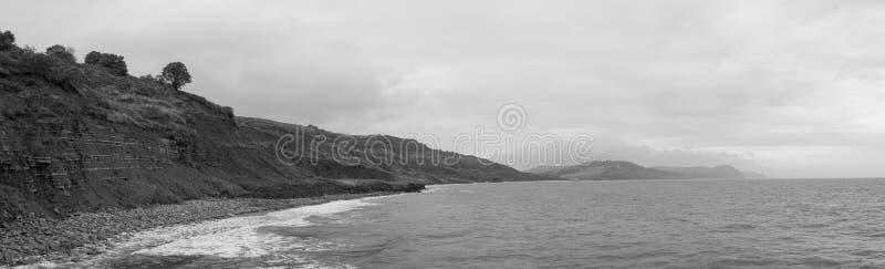 Lyme Regis Beach fotografering för bildbyråer