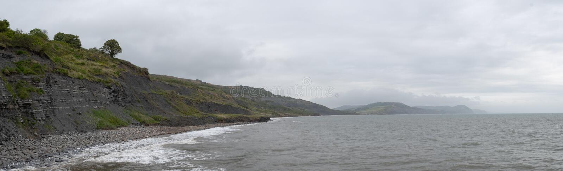 Lyme Regis Beach stock afbeelding