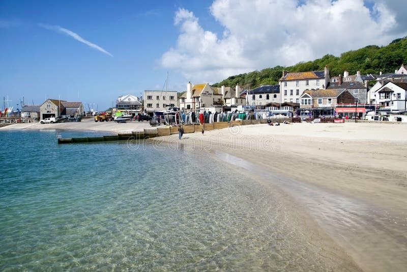 Lyme Regis Beaches - Juni 2015 fotografering för bildbyråer