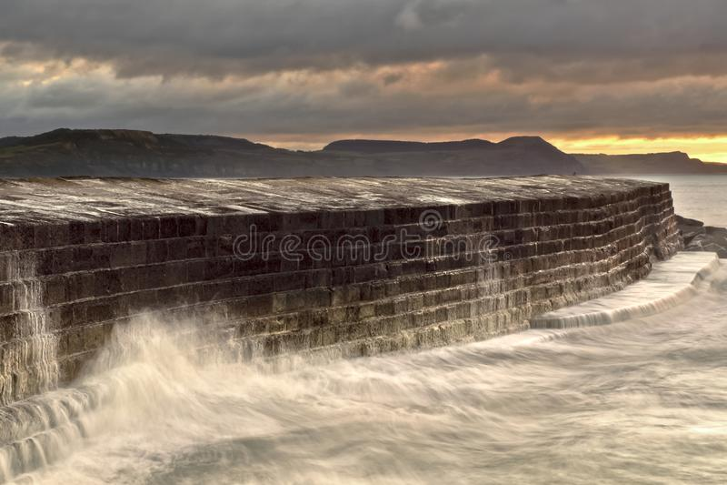 Lyme Regis - das Cobb stockbilder