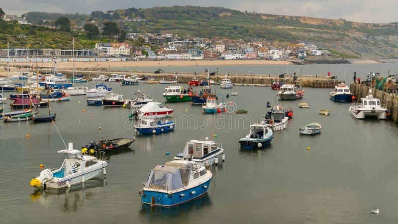 Lyme Regis, Dorset, Großbritannien lizenzfreie stockfotos