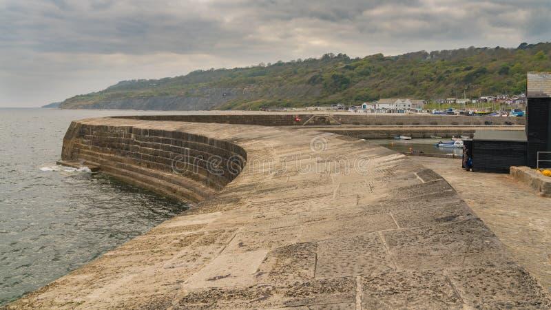 Lyme Regis, Dorset, UK arkivfoton