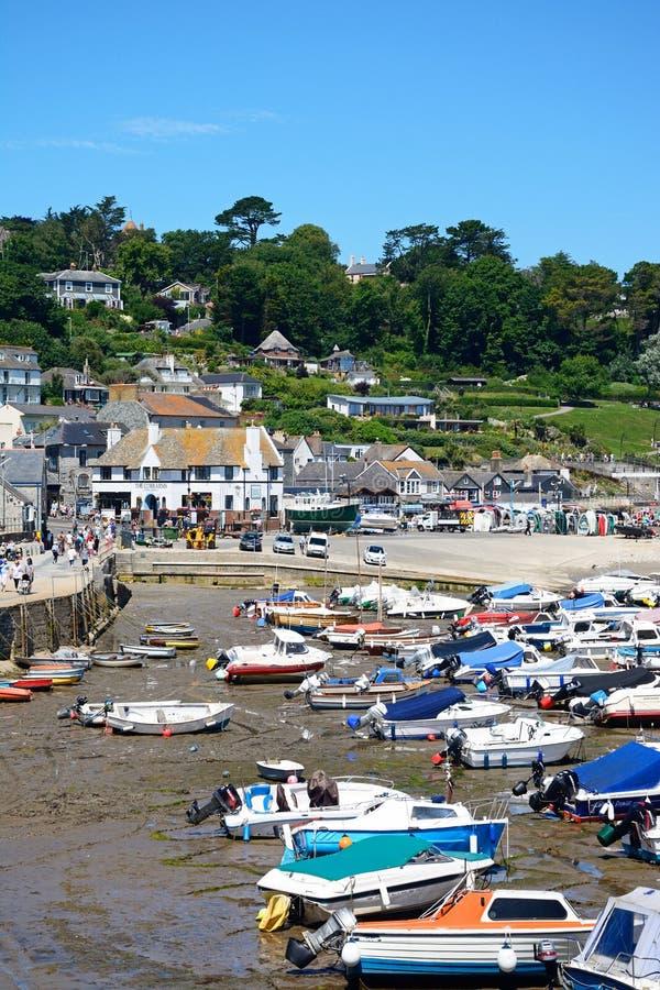 Lyme Regis hamn royaltyfria foton