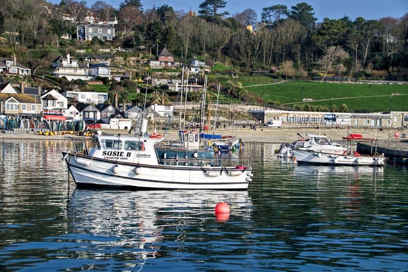 Lyme Regis Harbour - April royaltyfria foton