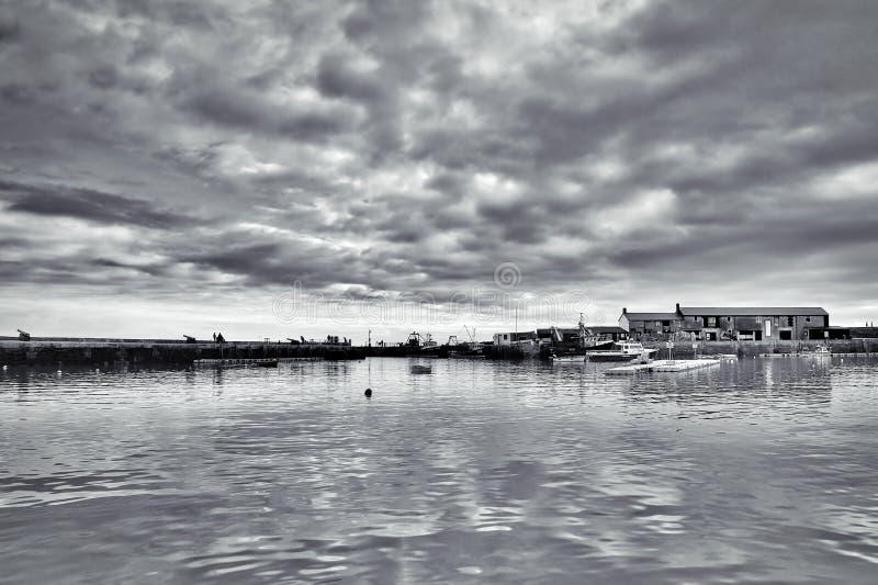 Lyme Regis Harbour - janvier image libre de droits