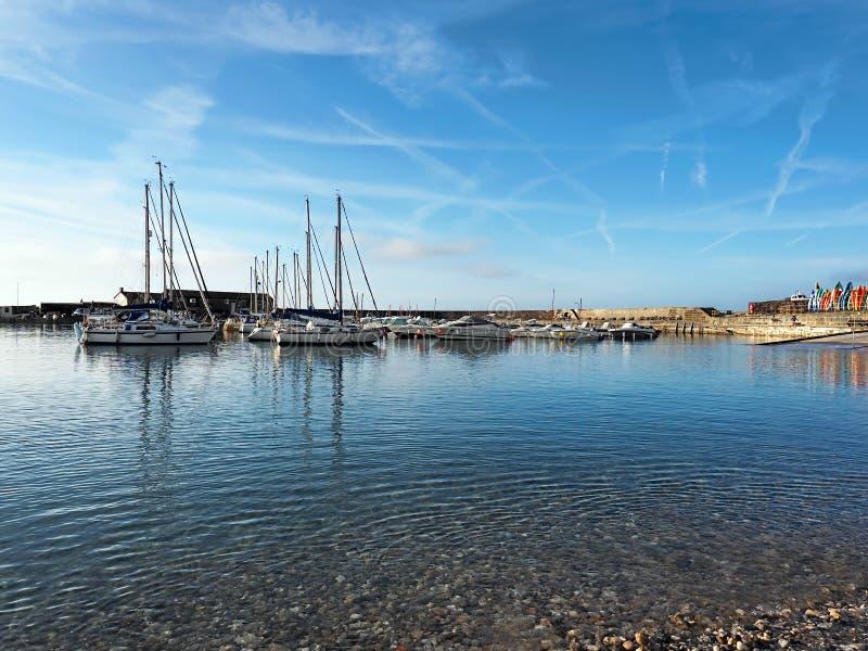 Lyme Regis Harbour - September arkivbild