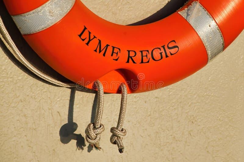 Lyme Regis Lifeline lizenzfreie stockbilder