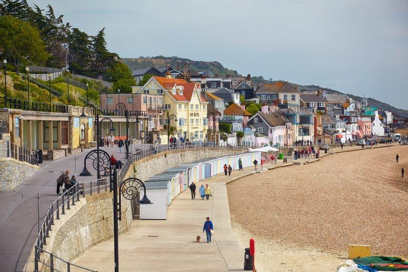 Lyme Regis Morska parada Zachodni Dorset england zdjęcia stock