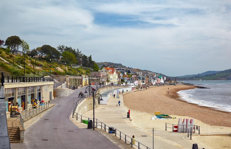 Lyme Regis Morska parada Zachodni Dorset england zdjęcie stock