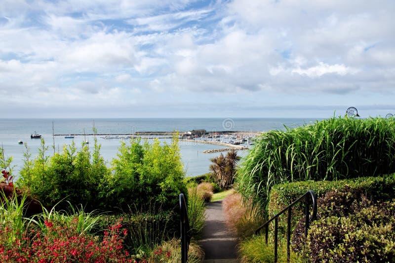 Lyme Regis Overview arkivfoto