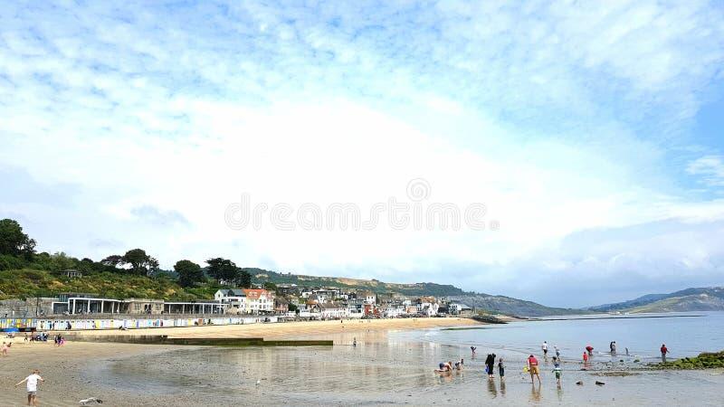 Lyme Regis på den Dorset kusten, UK arkivfoton