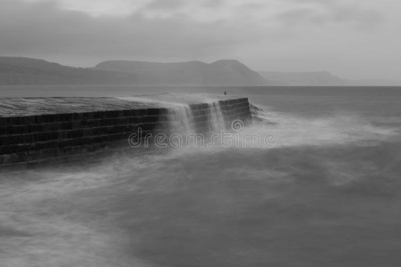 Lyme Regis pir royaltyfria foton