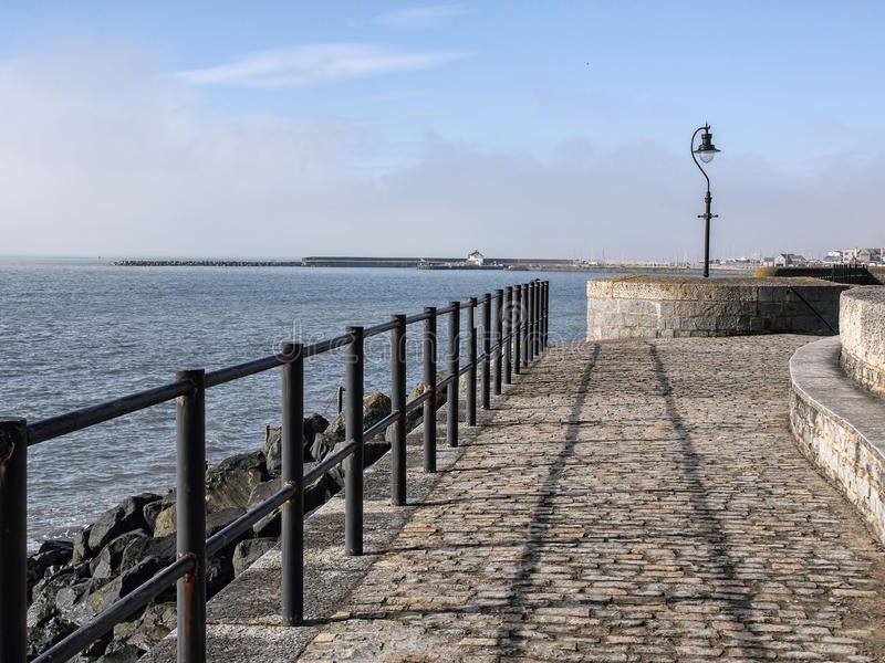 Lyme Regis Seafront royaltyfri fotografi