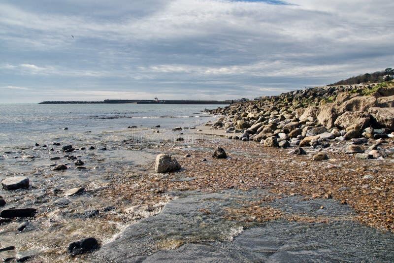 Lyme Regis Seascape royaltyfria foton