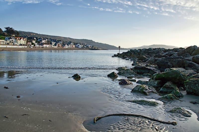 Lyme Regis Seascape arkivfoto