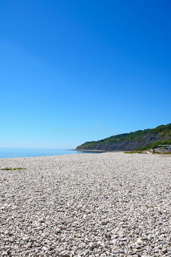 Lyme Regis strand och kustlinje royaltyfri bild