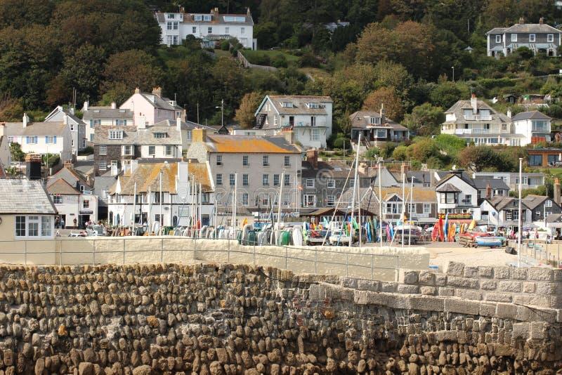 Lyme Regis z Cobb obraz royalty free