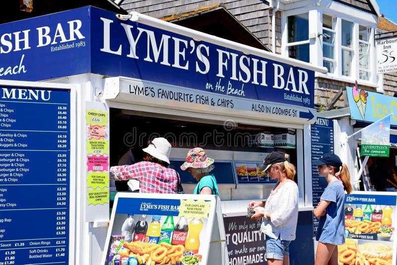 Lymes fiskstång, Lyme Regis arkivfoton