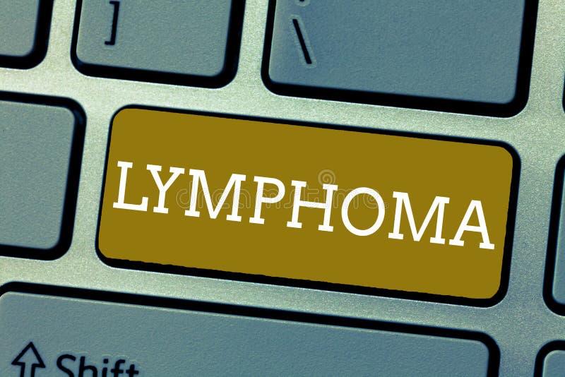 Lymphoma van de handschrifttekst Concept die Kanker betekenen die in besmettings vechtende cellen van het immuunsysteem begint royalty-vrije stock fotografie